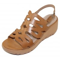 Wonders Women's D-9003 In Sand Cognac Perg Smooth Leather