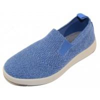 Woolloomooloo Women's Baaarbara Slip On In Blue Merino Wool